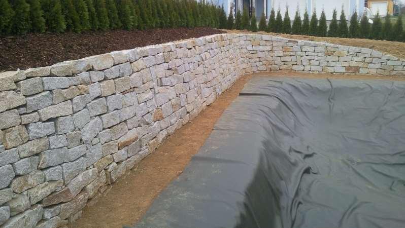 Nachher: Granittrockenmauer